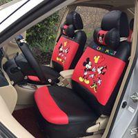 ขายชุดคลุมเบาะรถยนต์ ลายน่ารักๆ พร้อมอุปกรณ์ตกเเต่งภายในรถ